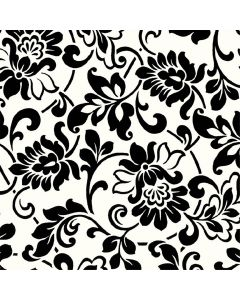Gekkofix Selvklæbende Folie - Sort/Hvid Blomst - 45X200 Cm