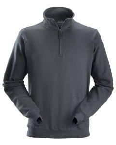 2818 Sweatshirt m/kort lynlås