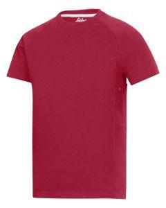 2504 T-shirt med MultiPockets™ - Chilirød