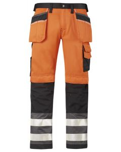 3233 High-Vis buks med hylsterlommer, klasse 2 - Orange