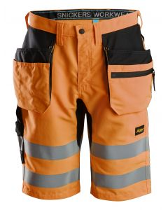 LiteWork, High-Vis shorts+ med hylsterlommer, klasse 1