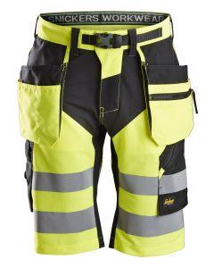FlexiWork, High-Vis shorts+ med hylsterlommer, klasse 1