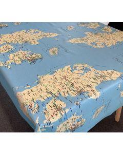 Textildug med Danmarks kort