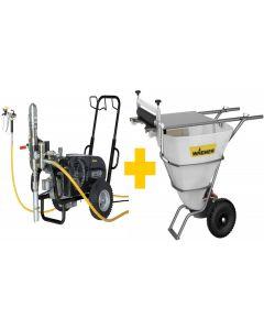 Wagner HeavyCoat 970 E Spraypack / 400 Volt inklusiv Spartelcontainer med håndrulle og adaptersæt for HeavyCoat