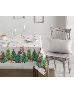 Textildug med julealfer