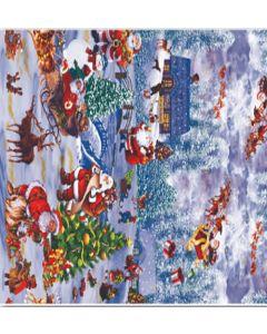 Voksdug med Julelandskab