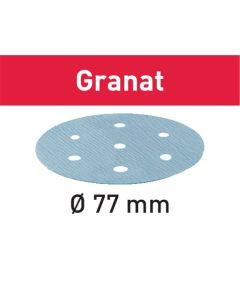 Festool Slibepapir STF D77/6 P180 GR/50 Granat