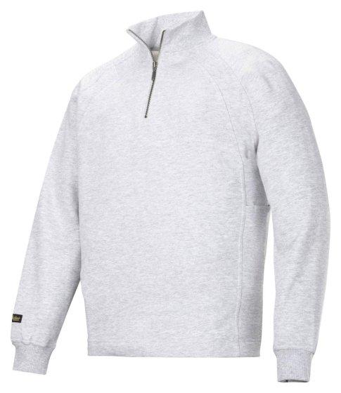 2813 Sweatshirt med kort lynlås og MultiPockets™ - Grå