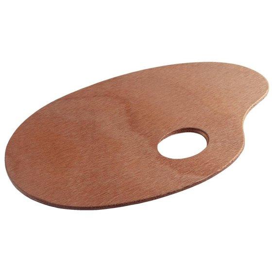 Træ palette oval 16x25cm